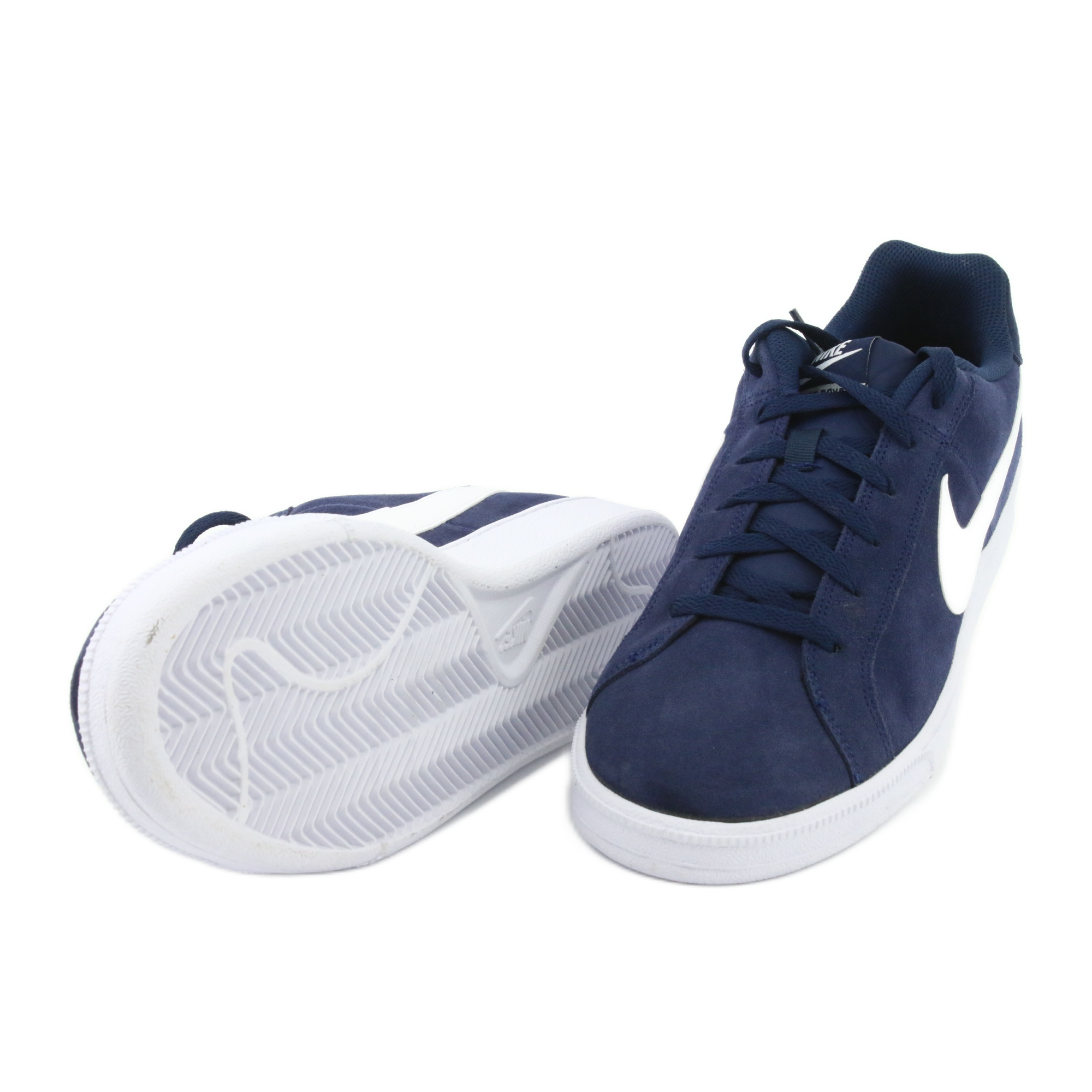 Tênis Infantil Couro Nike Court Royale Masculino Branco e