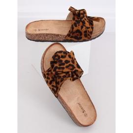 Chinelos de cortiça com estampa de leopardo CK115P Leopard castanho 2