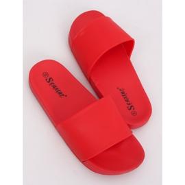 Chinelos vermelhos femininos vermelhos CK79P vermelho 1