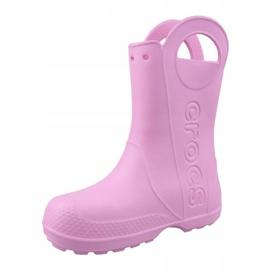 Crocs Handle It Rain Boot Kids Jr 12803-6I2 rosa 1