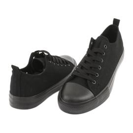 Sapatilhas pretas American Club LH16 preto 4
