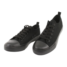 Sapatilhas pretas American Club LH16 preto 3