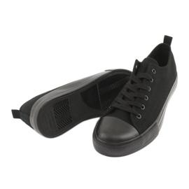 Sapatilhas pretas American Club LH16 preto 5