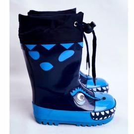 Apawwa Botas de chuva de borracha para crianças Tubarão Mordeso Azul marinho 2