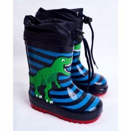 Apawwa Galochas de borracha para crianças Dinossauro azul marinho Mordeso verde 1