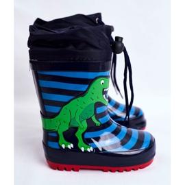 Apawwa Galochas de borracha para crianças Dinossauro azul marinho Mordeso verde 2