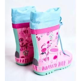 Bl&Ki Botas de chuva de borracha para crianças rosa coelho hippity hop 2