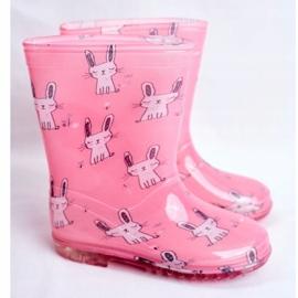 Botas de chuva de borracha para crianças. Coelhinho Rosa 1