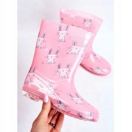 Botas de chuva de borracha para crianças. Coelhinho Rosa 3