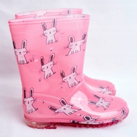 Botas de chuva de borracha para crianças. Coelhinho Rosa 2