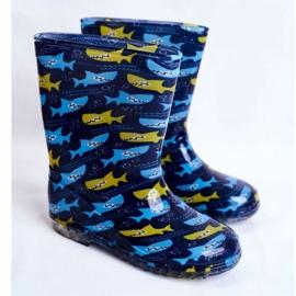 Botas de chuva de borracha para crianças. Azul marinho Shark 1