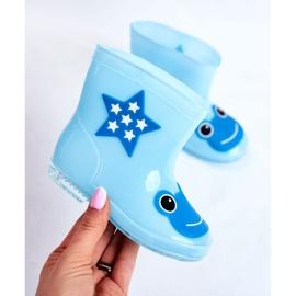 Galochas de borracha para crianças Sapo Azul 4