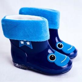 Galochas infantis de borracha sapo azul marinho 1