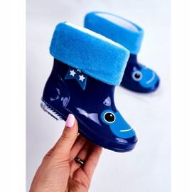 Galochas infantis de borracha sapo azul marinho 2
