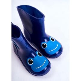 Galochas infantis de borracha sapo azul marinho 4