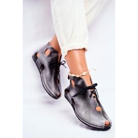Sapatos femininos Maciejka Popiel 03426-03 cinza 2