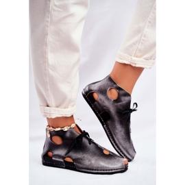 Sapatos femininos Maciejka Popiel 03426-03 cinza 4