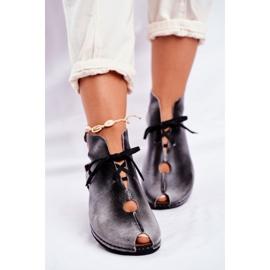 Sapatos femininos Maciejka Popiel 03426-03 cinza 1