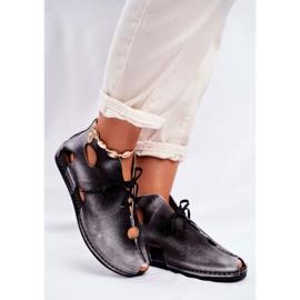 Sapatos femininos Maciejka Popiel 03426-03 cinza 5