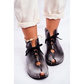 Sapatos femininos Maciejka Popiel 03426-03 cinza 6