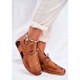 Maciejka Rude sapatos baixos para mulher 03426-19 marrom 1