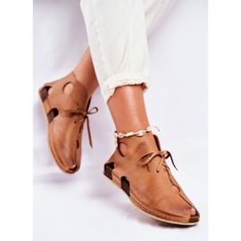 Maciejka Rude sapatos baixos para mulher 03426-19 marrom 5
