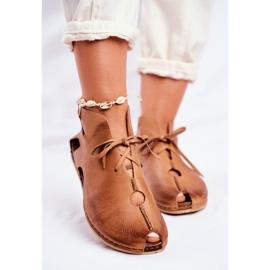 Maciejka Rude sapatos baixos para mulher 03426-19 marrom 2