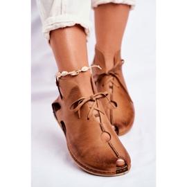 Maciejka Rude sapatos baixos para mulher 03426-19 marrom 4
