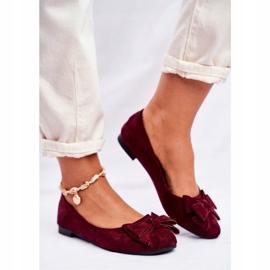 SEA Sapatos de bailarina para senhora Jordos vermelho 2