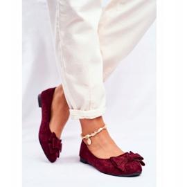 SEA Sapatos de bailarina para senhora Jordos vermelho 3
