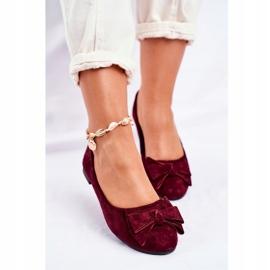 SEA Sapatos de bailarina para senhora Jordos vermelho 4