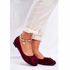 SEA Sapatos de bailarina para senhora Jordos vermelho 1