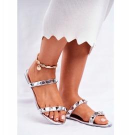 SEA Chinelos de prata com tachas Merrados para mulher cinza 1