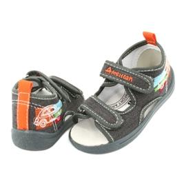 American Club Sandálias americanas sapatos infantis palmilha de couro TEN46 3