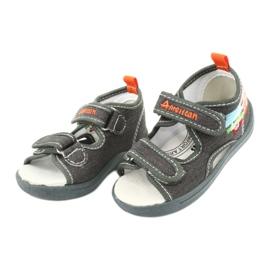 American Club Sandálias americanas sapatos infantis palmilha de couro TEN46 2