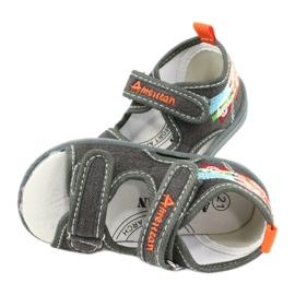 American Club Sandálias americanas sapatos infantis palmilha de couro TEN46 4
