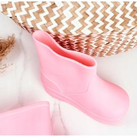 Galochas clássicas de borracha rosa com canção de ninar infantil 3