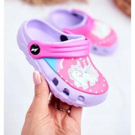 Chinelos infantis Espuma Crocs Pôneis Violeta roxo 2