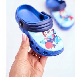 Chinelos infantis Espuma Crocs Ursinho Azul Piloto SuperFly 3