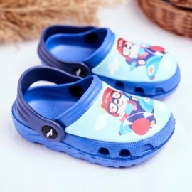 Chinelos infantis Espuma Crocs Ursinho Azul Piloto SuperFly 2