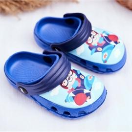 Chinelos infantis Espuma Crocs Ursinho Azul Piloto SuperFly 1