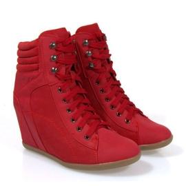 Sapatilhas Boots On Wedge 562 Vermelho 3