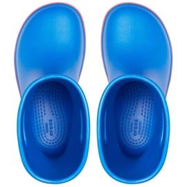 Botas de chuva Crocs para crianças Bota de chuva Crocband Kids azul 205827 4KD 1