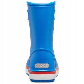 Botas de chuva Crocs para crianças Bota de chuva Crocband Kids azul 205827 4KD 4