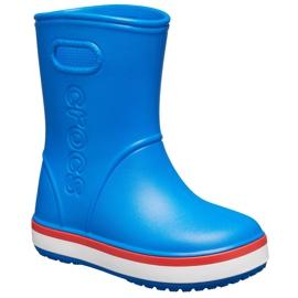Botas de chuva Crocs para crianças Bota de chuva Crocband Kids azul 205827 4KD 2