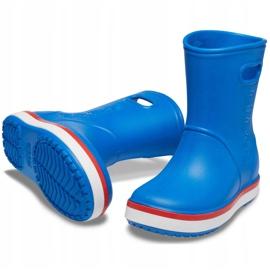 Botas de chuva Crocs para crianças Bota de chuva Crocband Kids azul 205827 4KD 3