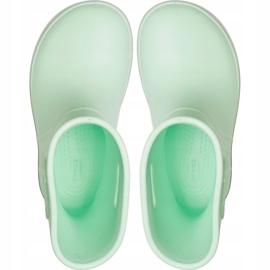 Botas de chuva Crocs para crianças Bota de chuva Crocband Kids verde 205827 3TO 1