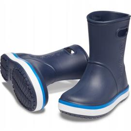 Botas de chuva Crocs para crianças Bota de chuva Crocband Kids azul marinho 205827 4KB 3
