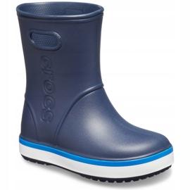 Botas de chuva Crocs para crianças Bota de chuva Crocband Kids azul marinho 205827 4KB 2
