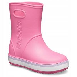 Botas de chuva Crocs para crianças Bota de chuva Crocband Kids rosa 205827 6QM 2